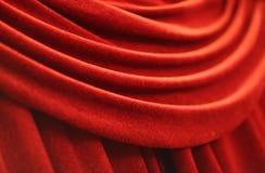 Tenda rossa del velluto Fotografia Stock