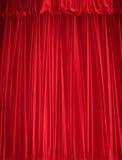 Tenda rossa del velluto Fotografie Stock