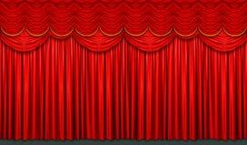 Tenda rossa della fase fotografie stock libere da diritti