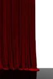 Tenda rossa nel teatro Immagine Stock