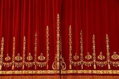 Tenda rossa teatrale Immagine Stock