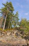 Tenda su un'alta scogliera Fotografie Stock Libere da Diritti