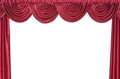 Tenda su una scena del teatro. Immagine Stock Libera da Diritti