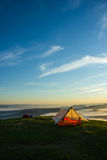 Tenda sulla cima di una montagna Fotografia Stock Libera da Diritti