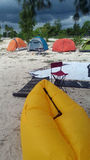 Tenda sulla costa Immagini Stock Libere da Diritti