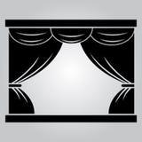 Tenda sulla fase del teatro royalty illustrazione gratis