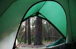 Tenda sulla foresta Immagine Stock Libera da Diritti