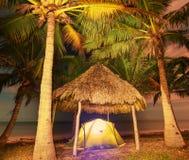 Tenda sulla spiaggia Fotografia Stock
