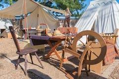 Tenda tradizionale durante la rinascita Faire di festival di Nottingham immagine stock libera da diritti