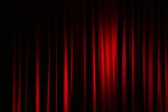 Tenda in un teatro Immagini Stock