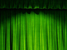 Tenda verde del teatro Immagine Stock Libera da Diritti