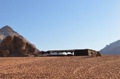 Tenda Wadi Rum Jordan di Bedouine Fotografia Stock Libera da Diritti