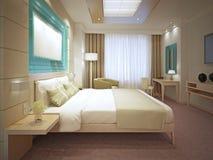 Tendance élégante de chambre à coucher principale Photo stock