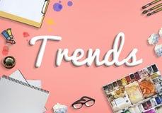 Tendance de tendances tendant le concept de construction à la mode de style de mode photos stock