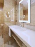 Tendance lumineuse de salle de bains Photos libres de droits