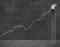 Tendance statistique positive Image libre de droits