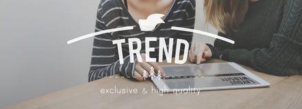 Tendance tendant le concept quotidien de commercialisation de style populaire Photos libres de droits