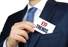 Tendances d'ETF photo stock