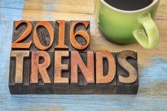 2016 tendances dans le type en bois Photo libre de droits