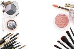 tendances 2016 de maquillage, fumeux et couleur pêche Images libres de droits