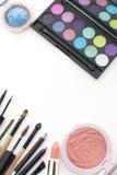 tendances 2016 de maquillage, fumeux et couleur pêche Photographie stock