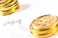 Tendances du marché de devise Photo libre de droits