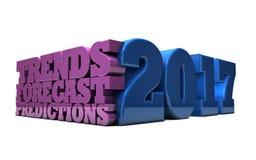 2017 - Tendances, prévision et prévisions Photo stock