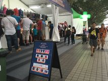Tendas 2015 grandes da mercadoria da fórmula de Singapura Prix Foto de Stock