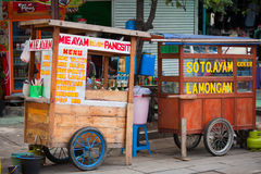 Tendas indonésias do alimento Foto de Stock