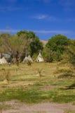 Tendas no parque da nação do Vale da Morte, Califórnia Fotos de Stock Royalty Free