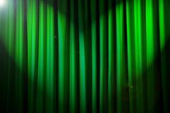 Tende brillantemente illuminate - concetto del teatro fotografie stock