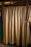 Tende dello spogliatoio allo studio Fotografie Stock