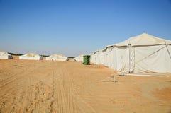 Tende in deserto Fotografia Stock