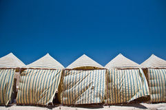 Tende nel deserto Fotografia Stock