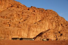 Tended camp in Wadi Rum Royalty Free Stock Photos