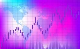 Tendencia cada vez mayor El horario del comercio en el intercambio stock de ilustración