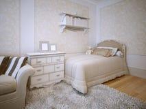 Tendencia clásica del dormitorio Imágenes de archivo libres de regalías