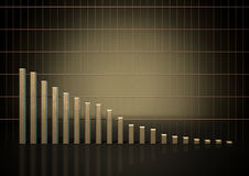 Tendencia del gráfico de barra Imagen de archivo libre de regalías
