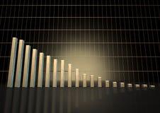 Tendencia del gráfico de barra Fotografía de archivo libre de regalías