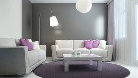 Tendencia escandinava de la sala de estar Imagen de archivo