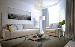 Tendencia escandinava de la sala de estar Foto de archivo