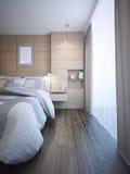 Tendencia moderna brillante del dormitorio Fotografía de archivo libre de regalías