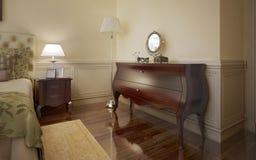 Tendencia moderna del dormitorio Foto de archivo