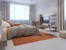 Tendencia moderna del dormitorio principal Imagenes de archivo