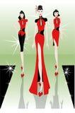 Tendencia oriental del desfile de moda Imagenes de archivo