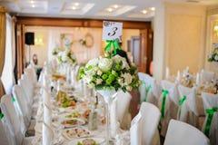 Tendencias de la decoración de la boda Imagen de archivo