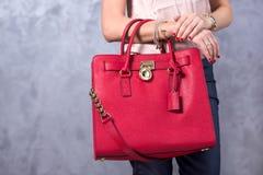 Tendencias de la moda de los bolsos Ciérrese para arriba de bolso elegante magnífico Fashionab Imagenes de archivo