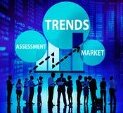 Tendenz-Einschätzungs-Markt-Mode-Zeitgenosse-Konzept lizenzfreie stockfotos