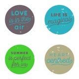 Tendenza del bottone dell'aria di amore immagini stock libere da diritti