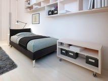 Tendenza della camera da letto di minimalismo Fotografia Stock